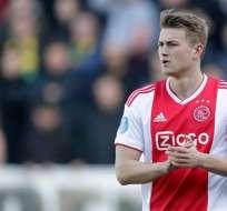 Matthijs de Ligt con la camiseta de Ajax.