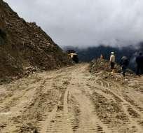 En 14 provincias se han registrado 62 eventos peligrosos por lluvias.  Foto: Obras Públicas Ec