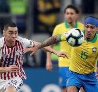 Partido entre Brasil y Paraguay que terminó en los penales. Foto: Olé.