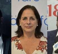 ECUADOR.- Juan Fernando Velasco, Monserrat Creamer e Iván Ontaneda se sumaron ayer al gabinete. Collage: Ecuavisa