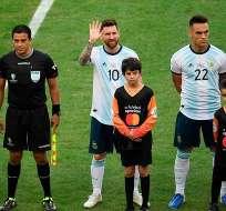 Messi previo al partido ante Venezuela.