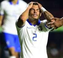 Thiago Silva, jugador de la Selección de Brasil.