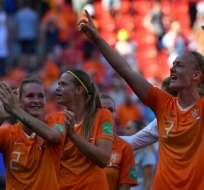 La 'Naranja Mecánica' venció 2-0 a Italia en Valenciennes. Foto: DENIS CHARLET / AFP