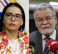 ECUADOR.- Atamaint y Pita se confrontan por eventual contrato que comprometería caso 'Arroz verde'. Collage: Ecuavisa