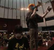 """El gobierno de Hong Kong acusó de """"violencia extrema"""" a los manifestantes. Foto: AFP"""