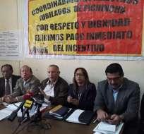ECUADOR.- Según los docentes retirados, el Gobierno no ha cumplido con el acuerdo, suscrito en mayo. Foto: Corape