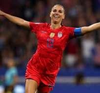 Alex Morgan, jugadore de Estados Unidos. Foto: Twitter Mundial femenino.