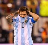 Lionel Messi, con la camiseta de Argentina.