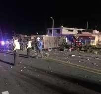 En 2018, más de 20 personas murieron tras estrellarse bus en  vía Pifo-Papallacta. Foto: Archivo