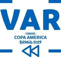 Logo de la Copa América 2019 durante los partidos.