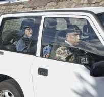 QUITO, Ecuador.- El exfuncionario sigue en prisión; esta mañana acudió a una diligencia en Criminalística. Foto: API