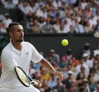El tenista australiano volvió a ser el centro de polémica en un partido. Foto: ADRIAN DENNIS / AFP