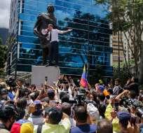Manifestación coincidió con celebraciones por día de declaración de independencia. Foto: AFP