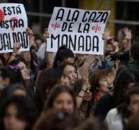 La víctima de la Manada fue violada 10 veces en 1 minuto. Foto: AFP