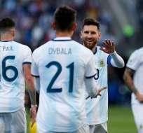 Messi durante el partido ante Chile. Foto: Twitter Copa América.