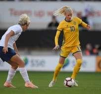 Partido que se disputó entre Suecia e Inglaterra.