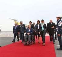 El presidente Lenín Moreno durante su viaje a Perú por la Alianza del Pacífico. Foto: Presidencia