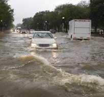 WASHINGTON, EEUU.- La tormenta afectó edificio gubernamentales. Foto: AP