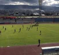 Partido de este martes jugado en La Cocha. Foto: Twitter Independiente Jrs.