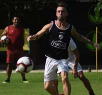 Kitu Díaz en una práctica de BSC previo al partido de Copa Ecuador. Foto: Twitter BSC.