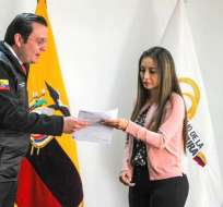 Leopoldo Quirós de la UAFE presentó en Judicatura queja y denuncia formal en el caso Diacelec. Foto: UAFE