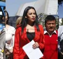 ECUADOR.- Asambleísta Raúl Tello (i) y Jeannine Cruz, y director de Unidad Popular impulsan denuncias. Fotos: API