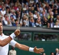 El tenista serbio venció a Roger Federer en la final del Grand Slam. Foto: BEN STANSALL / AFP
