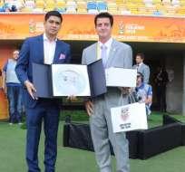 El vicepresidente de la Federación Ecuatoriana de Fútbol (FEF) habló sobre el nuevo DT. Foto: Archivo