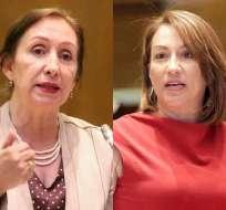 ECUADOR.- Los nombres de las legisladoras aparecen en el archivo 'Verde final' de la Fiscalía. Collage: Ecuavisa