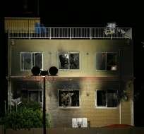 """Un hombre vertió un líquido inflamable e inició el incendio"", dijo la policía de Kioto. Foto: AFP"