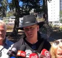 """QUITO, Ecuador.- Según el ciudadano sueco, Fiscalía intenta vincular a su proceso a una persona """"inocente"""". Foto: Ecuavisa"""