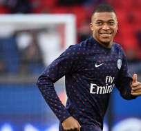 Mbappé llegó al conjunto de París en 2017.