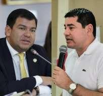 ECUADOR.- El titular del CPCCS (d) presentó medidas cautelares contra el presidente de la Asamblea. Collage: Ecuavisa