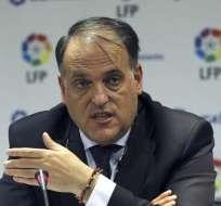 Javier Tebas, presidente de La Liga. FOTO: AFP