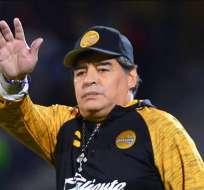 Maradona en su paso por Dorados de México.