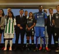 Jugadores del América de Quito.