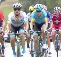 Parte de lo que fue la etapa. Foto: Twitter Tour de Francia en Español.