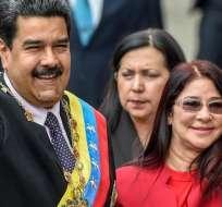 EEUU sanciona a los tres hijos de la esposa de Maduro. Foto: AFP