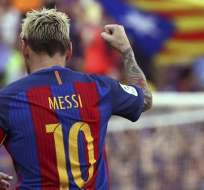 Messi con el FC Barcelona.