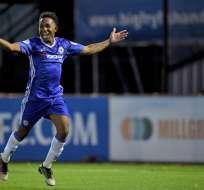Josimar Quintero en su paso por el Chelsea.