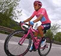 Richard Carapaz, durante el Giro de Italia.