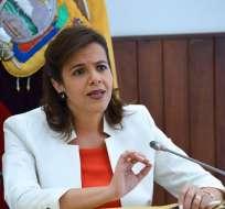 QUITO, Ecuador.- La ministra del Interior dijo que remitió a varios asambleístas información sobre uso de aeronave policial.