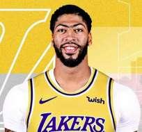 Anthony Davis, jugador de Los Angeles Lakers.