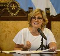 Alcaldesa Viteri reclama a ministra del Interior cooperación en seguridad. Foto: Archivo API