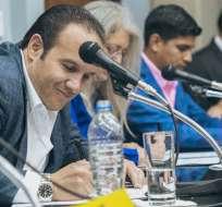 Francisco Egas previo a la rueda de prensa de este miércoles. Foto: Twitter FEF.