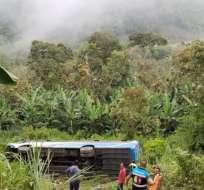 """En este choque estuvo involucrado un bus de la Cooperativa de Transportes """"El Dorado"""". Foto: Cortesía"""