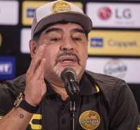 Maradona en su paso por Dorados.