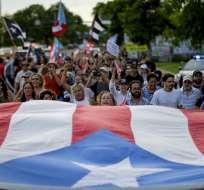 SAN JUAN, Puerto Rico.- Las protestas en la isla de 3,2 millones de habitantes obligaron a que Rosselló renuncie. Foto: AFP