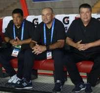 El asistente técnico de Hernán Darío Gómez, Édgar Carvajal.