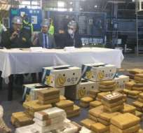 La droga incautada es producto de 84 operativos realizados en el país. Foto: Twitter/Ministerio de Gobierno